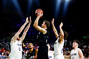 Tom Abercrombie of New Zealand goes to the basket during the Men's Bronze Medal Game between the New Zealand Tall Blacks and Scotland. Gold Coast 2018 Commonwealth Games, Basketball, Gold Coast Convention & Exhibition Centre, Gold Coast, Australia. 15 April 2018 © Copyright Photo: Anthony Au-Yeung / www.photosport.nz