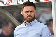 manager of Scunthorpe United Graham Alexander  during the EFL Sky Bet League 1 match between Scunthorpe United and Bolton Wanderers at Glanford Park, Scunthorpe, England on 8 April 2017. Photo by Ian Lyall.