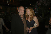 Bill Buford with his wife Jessica, publication party for Bill Buford and his memoir HEAT. Hosted by Marco Pierre White at 'Frankie's. Knightsbridge. 10 July 2006. ONE TIME USE ONLY - DO NOT ARCHIVE  © Copyright Photograph by Dafydd Jones 66 Stockwell Park Rd. London SW9 0DA Tel 020 7733 0108 www.dafjones.com