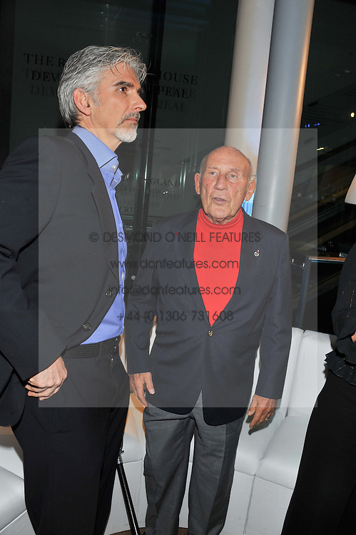 Left to right, DAMON HILL and SIR STIRLING MOSS at the Motor Sport magazine's 2013 Hall of Fame awards at The Royal Opera House, London on 25th February 2013.