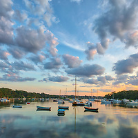 Cape Cod sunset fine art photography at Quissett Harbor in Falmouth, MA.<br />