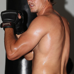Morne Joubert during the cell c sharks backs boxing pre season training session at  Growthpoint Kings Park ,18,01,2018 Photo by Steve Haag)