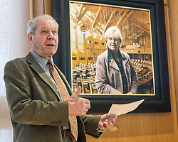 The painting of the late MSP is being donated to the Scottish Parliament by her husband Jim Sillars, who will be joined by artist Gerard M Burns and Scottish Parliament Deputy Presiding Officer Christine Grahame at its unveiling