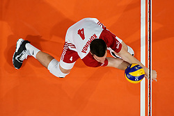23-09-2019 NED: EC Volleyball 2019 Poland - Germany, Apeldoorn<br /> 1/4 final EC Volleyball - Poland win 3-0 / Marcin Komenda #4 of Poland