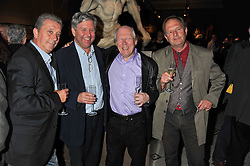 Left to right, MARK WARREN, Satirical cartoonist NICK NEWMAN, KEN PYNE and ANDREW BIRCH at a private view of Private Eye: The First 50 Years - an exhibition at the Victoria & Albert Museum, London on 17th October 2011.