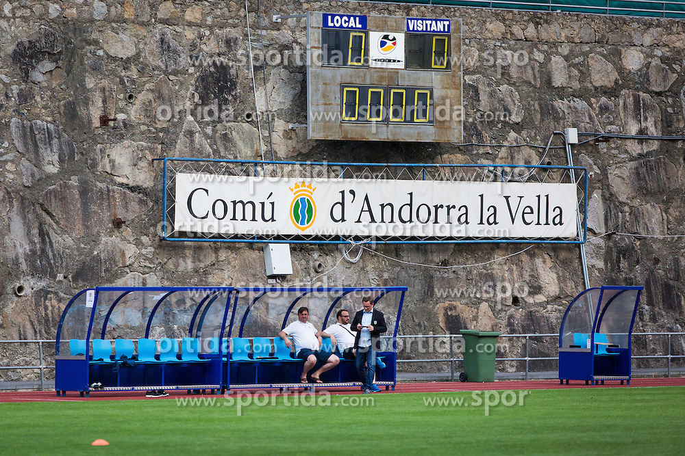 Andorra la Vella during practice session before football match between NK Domzale and FC Lusitanos Andorra in second leg of UEFA Europa league qualifications on July 6, 2016 in Andorra la Vella, Andorra. Photo by Ziga Zupan / Sportida