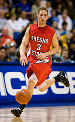 February 27, 2010; San Jose, CA, USA;  Fresno State Bulldogs guard Taylor Kelly (3) during the second half against the San Jose State Spartans at The Event Center.  San Jose State defeated Fresno State 72-45.