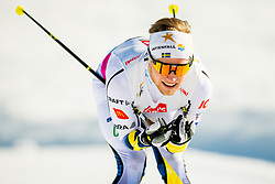 January 31, 2018 - Goms, Switzerland - BJORN SANDSTROM of Sweden competes in the men's 15km classic technique interval start during the FIS U23 Cross-Country World Ski Championships in Obergoms. (Credit Image: © Vegard Wivestad Grott/Bildbyran via ZUMA Press)