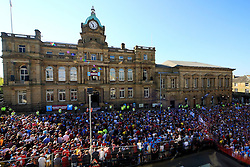 A general view as fans gather outside Burnley Town Hall- Mandatory by-line: Matt McNulty/JMP - 09/05/2016 - FOOTBALL - Burnley Town Hall - Burnley, England - Burnley FC Championship Trophy Presentation