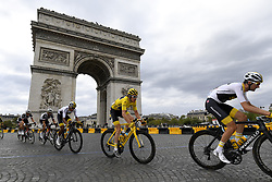 July 29, 2018 - Paris Champs-Elysees, France - PARIS CHAMPS-ELYSEES, FRANCE - JULY 29 :  THOMAS Geraint (GBR) of Team SKY at the Arc de Triomphe during stage 21 of the 105th edition of the 2018 Tour de France cycling race, a stage of 116 kms between Houilles and Paris Champs-Elysees on July 29, 2018 in Paris Champs-Elysees, France, 29/07/18  (Credit Image: © Panoramic via ZUMA Press)