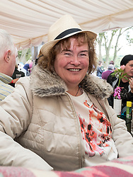 Susan Boyle attends Party At The Palace Music Festival in Linlithgow Palace grounds on Sat 13th August 2016.<br /> <br /> <br /> Alan Rennie/ EEm