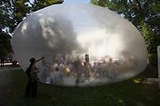 12th Biennale of Architecture. Giardini. Discussion Forum in a bubble.