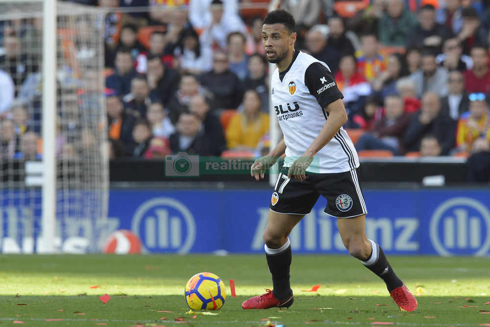 January 27, 2018 - Valencia, Spain - Coquelin during the match between Valencia CF against Real Madrd, week 21 of La Liga 2017/187 at Mestala stadium, Valencia, SPAIN - 27th January of 2018. (Credit Image: © Jose Breton/NurPhoto via ZUMA Press)