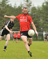 Ballyhaunis's Keith Higgins in action during the Intermediate Championship clash on sunday.<br /> Pic Conor McKeown