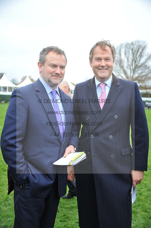 Left to right, HUGH BONNEVILLE and the HON.HARRY HERBERT at the Hennessy Gold Cup at Newbury Racecourse, Berkshire on 26th November 2011.