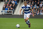 Jake Bidwell (3) QPR  during the EFL Sky Bet Championship match between Queens Park Rangers and Wolverhampton Wanderers at the Loftus Road Stadium, London, England on 28 October 2017. Photo by Robin Pope.
