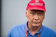 Mercedes AMG F1 Non- Executive Chairman Niki Lauda during the Austrian Formula One Grand Prix qualifying session at the Red Bull Ring, Spielberg<br /> Picture by EXPA Pictures/Focus Images Ltd 07814482222<br /> 08/07/2017<br /> *** UK &amp; IRELAND ONLY ***<br /> <br /> EXPA-ANG-170708-5067.jpg