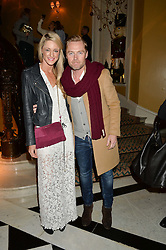 RONAN KEATING and STORM UECHTRITZ at a party to celebrate theunveiling of the Claridge's Christmas Tree designed by Christopher Bailey for Burberryheld at Claridge's, Brook Street, London on 18th November 2015.
