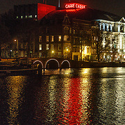 NLD/Amsterdam/20131102 - Theater Carre gezien vanaf de Magere Brug in Amsterdam,
