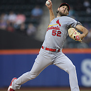 Pitcher Michael Wacha, St. Louis Cardinals, pitching  during the New York Mets Vs St. Louis Cardinals MLB regular season baseball game at Citi Field, Queens, New York. USA. 19th May 2015. Photo Tim Clayton