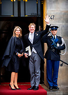 16-1-2019 AMSTERDAM - King Willem-Alexander and Queen Máxima hold the traditional New Year's reception for Dutch guests 2019 Wednesday 16 January for foreign diplomats and representatives of international organizations based in the Netherlands. COPYRIGHT ROBIN UTRECHT