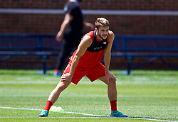ANN ARBOR, USA - Friday, July 27, 2018: Liverpool's Adam Lallana during a training session ahead of the preseason International Champions Cup match between Manchester United FC and Liverpool FC at the Michigan Stadium. (Pic by David Rawcliffe/Propaganda)