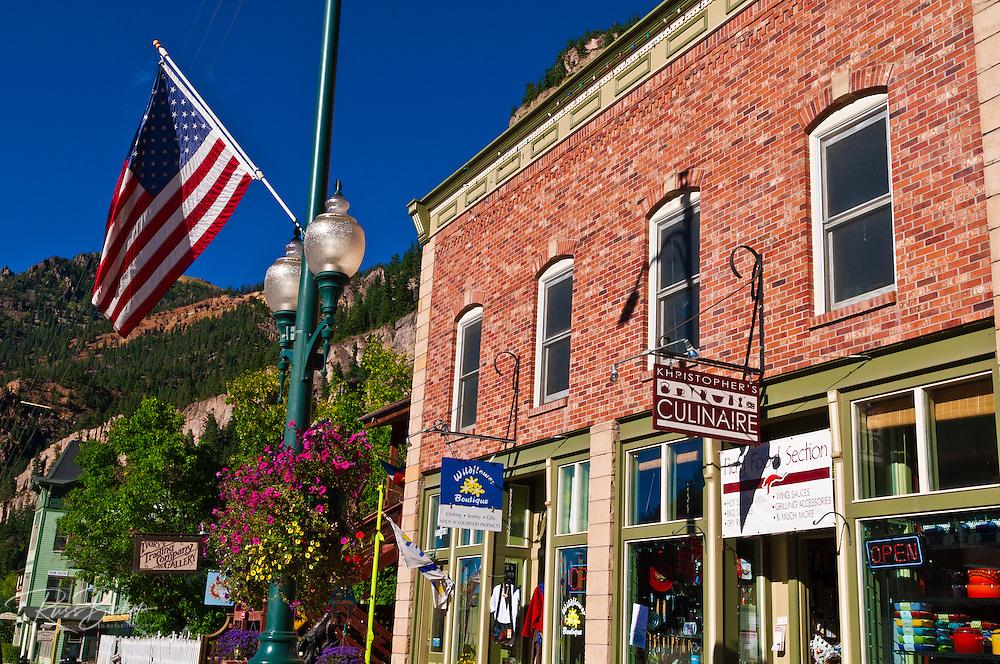 Downtown shops, Ouray, Colorado