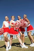 Cheerleaders with Pom-poms