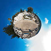 Polar panorama a Jewish cemetery in Israel