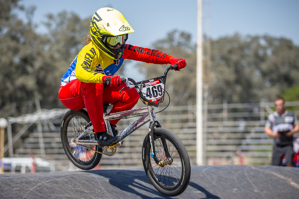 #469 (HERNANDEZ Stefany) VEN  at Round 9 of the 2019 UCI BMX Supercross World Cup in Santiago del Estero, Argentina