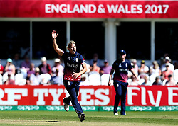 Katherine Brunt of England Women appeals for an LBW - Mandatory by-line: Robbie Stephenson/JMP - 02/07/2017 - CRICKET - County Ground - Taunton, United Kingdom - England Women v Sri Lanka Women - ICC Women's World Cup Group Stage