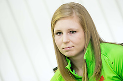 Maja Mihalinec during press conference of Slovenian Team for European Indoor Athletics Championships Prague 2015, on March 4, 2015 in Ljubljana, Slovenia. Photo by Vid Ponikvar / Sportida