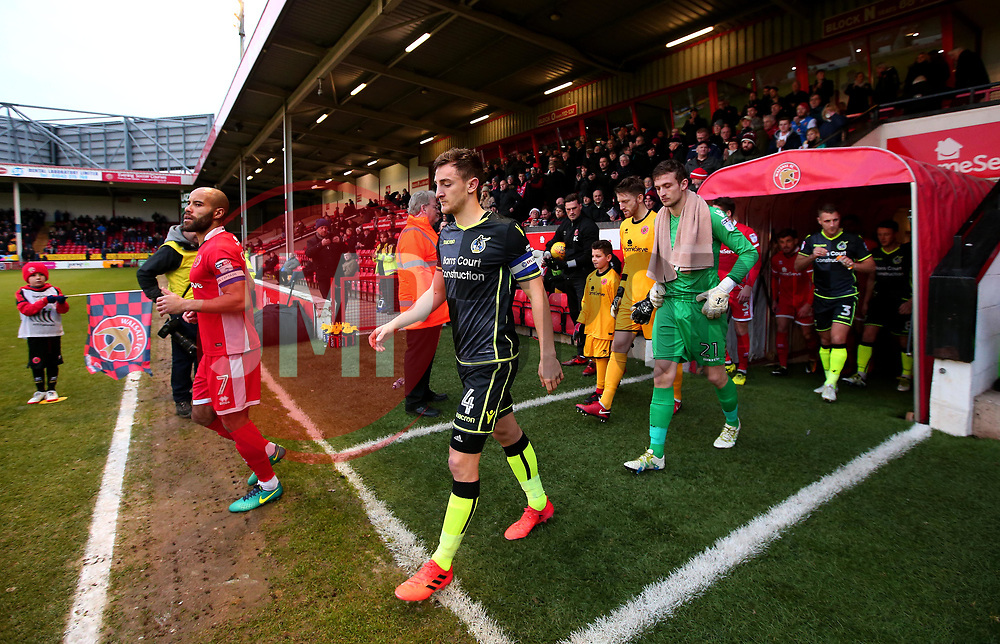 Tom Lockyer of Bristol Rovers leads his side out to face Walsall - Mandatory by-line: Robbie Stephenson/JMP - 26/12/2017 - FOOTBALL - Banks's Stadium - Walsall, England - Walsall v Bristol Rovers - Sky Bet League One