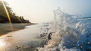 gentle Waves break on on the beach in Cartagena, Colombia