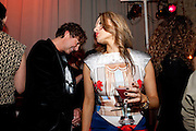 Julian Macdonald; Maria Hatzistefanis, Rodial Beautiful Awards. Sanderson Hotel. 1 February 2011. -DO NOT ARCHIVE-© Copyright Photograph by Dafydd Jones. 248 Clapham Rd. London SW9 0PZ. Tel 0207 820 0771. www.dafjones.com.