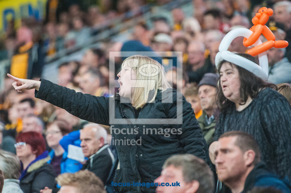 Hull City fans urge on their team during the Sky Bet Championship Playoff Semi-final Leg Two at KC Stadium, Hull<br /> Picture by Matt Wilkinson/Focus Images Ltd 07814 960751<br /> 17/05/2016