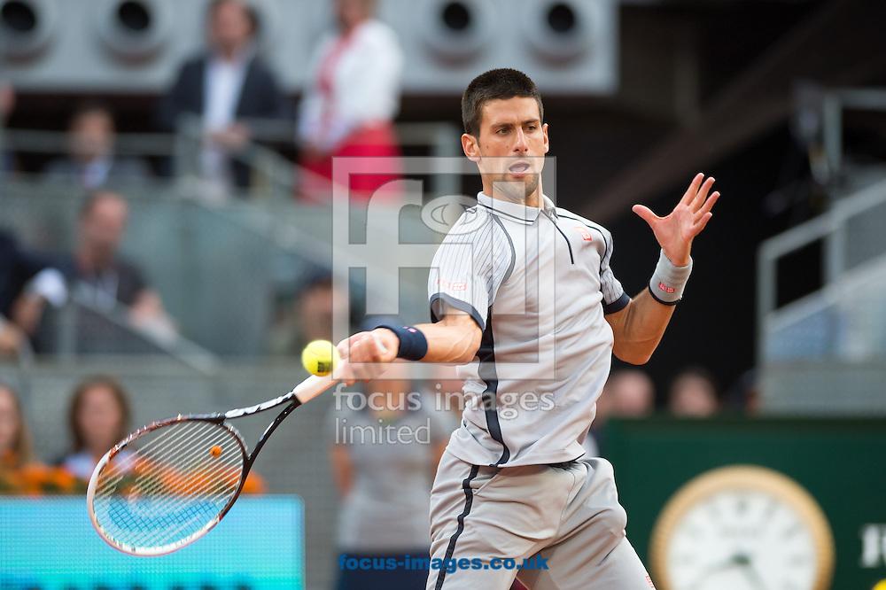 Picture by Sam Wordley/Focus Images Ltd +34 605 350 422.07/05/2013.Novak Djokovic pictured during Madrid Open at Manzanares Park Tennis Centre, Madrid.