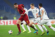 Edin Dzeko of Roma in action during the UEFA Europa League, Group J football match between AS Roma and Wolfsberg AC on December 12, 2019 at Stadio Olimpico in Rome, Italy - Photo Federico Proietti / ProSportsImages / DPPI