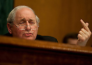 "Apr 13,2010 - Washington, District of Columbia USA -.Senator Carl Levin, D-MI, Chairman of the The Senate Investigations Subcommittee asks querstions during a hearing on ""Wall Street and the Financial Crisis: The Role of High Risk Home Loans."" (Credit Image: © Pete Marovich/ZUMA Press)"