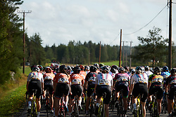 The peloton head into the rolling countryside during Ladies Tour of Norway 2019 - Stage 2, a 131 km road race from Mysen to Askim, Norway on August 23, 2019. Photo by Sean Robinson/velofocus.com