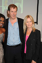ALASTAIR CAMPBELL and FIONA MILLER at the launch of Politics and The City - a new web site for women fusing politics with gossip, entertainment, news and fashion, held at the ICA, 12 Carlton House Terrace, London on 8th July 2008.<br />