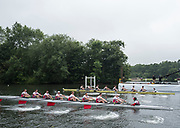 Henley-on-Thames. United Kingdom.  Heat of the Thames Challenge Cup. Bucks. Molesey BC and Kingston RC. 2017 Henley Royal Regatta, Henley Reach, River Thames. <br /> <br /> 08:39:27  Wednesday  28/06/2017   <br /> <br /> [Mandatory Credit. Peter SPURRIER/Intersport Images.