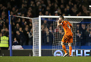 Ipswich Town defender Luke Chambers (4) celebrates victory during the Sky Bet Championship match between Brighton and Hove Albion and Ipswich Town at the American Express Community Stadium, Brighton and Hove, England on 29 December 2015.
