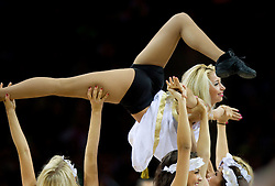 Cheerleaders during basketball game between National basketball teams of France and Greece at of FIBA Europe Eurobasket Lithuania 2011, on September 15, 2011, in Arena Zalgirio, Kaunas, Lithuania. France defeated Greece 64-56.  (Photo by Vid Ponikvar / Sportida)