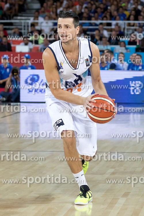 06.09.2015, Park Suites Arena, Montpellier, FRA, Bosnien und Herzegowina vs Frankreich, Gruppe A, im Bild MARKO SUTALO (7) // during the FIBA Eurobasket 2015, group A match between Bosnia an Herzegowina and France at the Park Suites Arena in Montpellier, France on 2015/09/06. EXPA Pictures &copy; 2015, PhotoCredit: EXPA/ Newspix/ Pawel Pietranik<br /> <br /> *****ATTENTION - for AUT, SLO, CRO, SRB, BIH, MAZ, TUR, SUI, SWE only*****