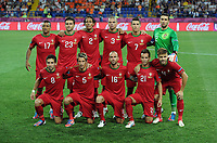 Football - European Championships 2012 - Portugal vs. Netherlands<br /> The Portuguese team line up for a group photo before kick off at the Metalist Stadium, Kharkiv, Ukraine
