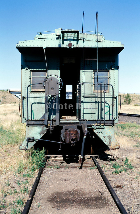 old abandoned rusty passengers rail wagon USA