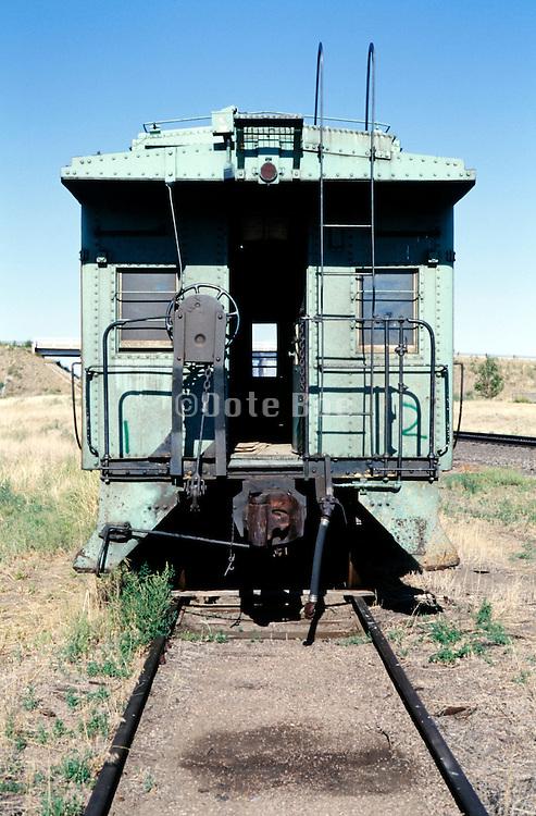 old abandoned rusty passengers rail wagon USA
