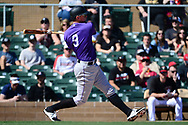 SCOTTSDALE, AZ - FEBRUARY 25:  DJ LeMahieu #9 of the Colorado Rockies at bat during the spring training game against the Arizona Diamondbacks at Salt River Fields at Talking Stick on February 25, 2017 in Scottsdale, Arizona.  (Photo by Jennifer Stewart/Getty Images)