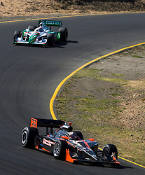 Robert Doornbos (33) during the 2009 Sonoma Grand Prix IndyCar race was held at Infineon Raceway in Sonoma, California on August 23, 2009.